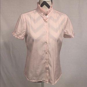 J. Crew Pink Pinstripe Button Down Top Size 8